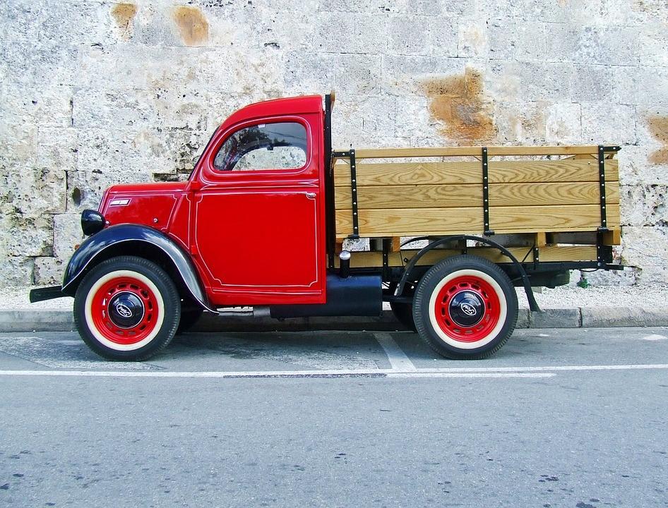 transporte – mudança – caminhão – aberto