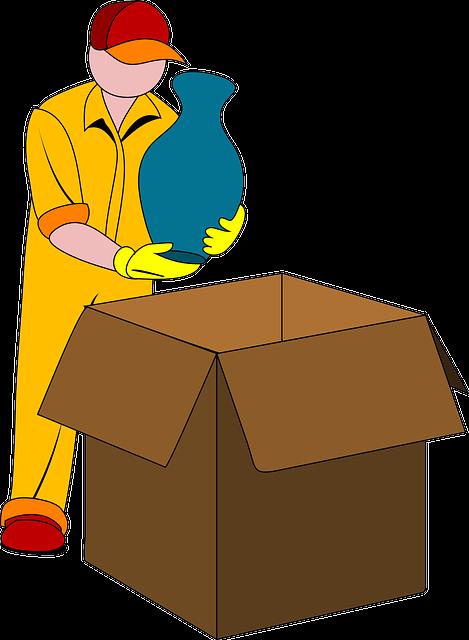 mudanças residenciais, profissional, embalagem
