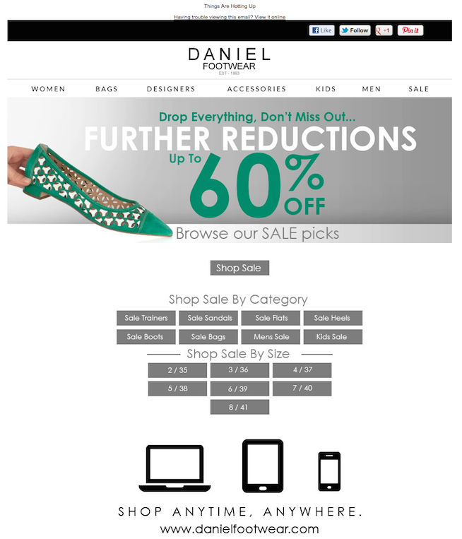 post conversion marketing daniel footwear