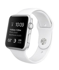 Apple Watch Sport 42 mm белый спортивный ремешок