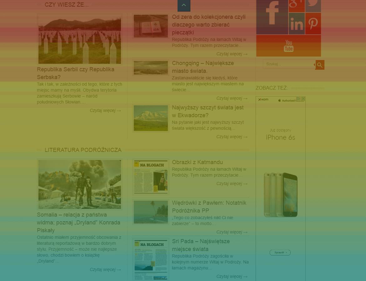 dobry landing layout strony scrollmapa